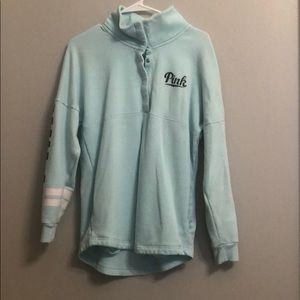 PINK light blue sweatshirt
